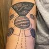 Tatuaże z kosmicznymi motywami- inspiracje z Instagrama