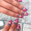 Negative french tip