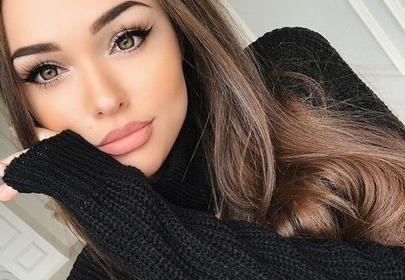 dziewczyna z makijażem