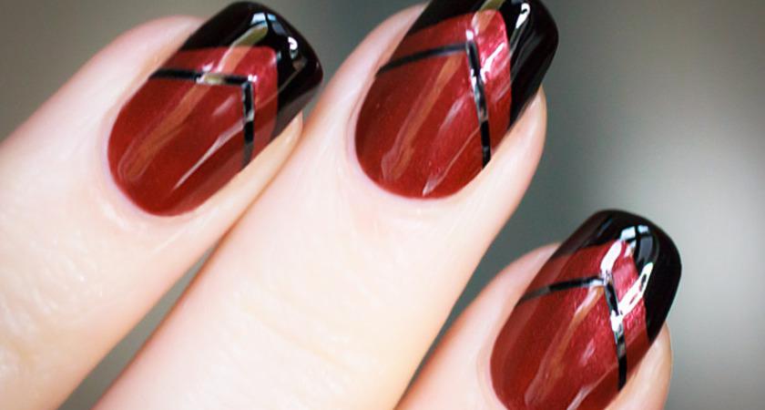 Geometryczny french manicure krok po kroku