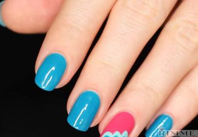 Video krok po kroku: manicure  z kolorowymi chmurkami