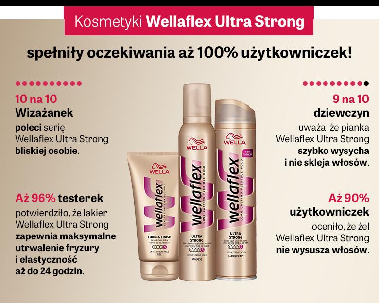 Wellaflex Ultra Strong: spełniły oczekiwania 100% Wizażanek, maksymalne utrwalenie i elastyczność fryzury