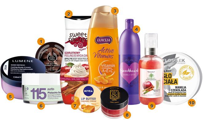 10 smakowitych kosmetyków