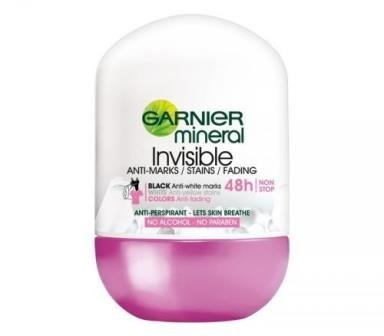Garnier, Mineral Deodorant, Invisible 48h Anti - Marks Roll - On