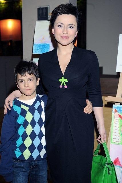 Beata Tadla z synem Janem