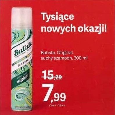 Suchy szampon Batiste w promocji