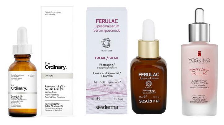 kwas ferulowy w kosmetykach