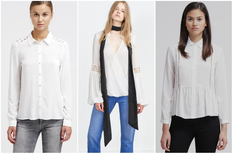 biała koszula retro