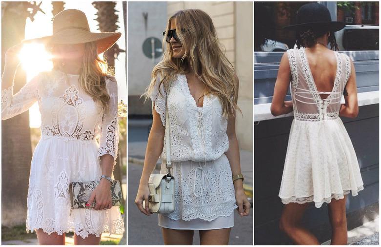 Białe sukienki z koronkami
