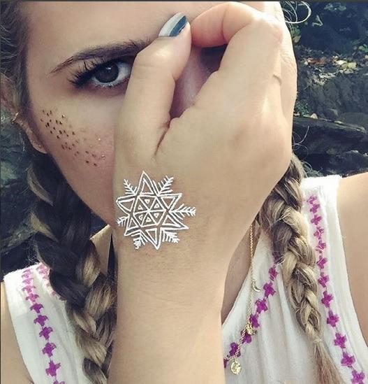 Białe Zimowe Tatuaże Tymczasowe Wizazpl