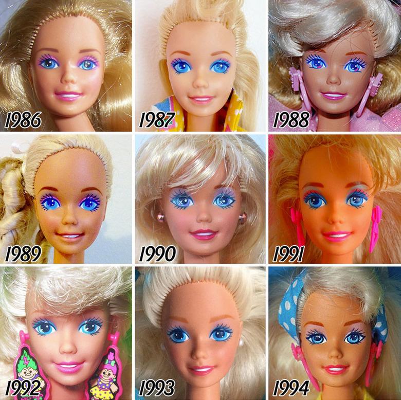 Tak zmieniała się lalka Barbie od 1959 roku