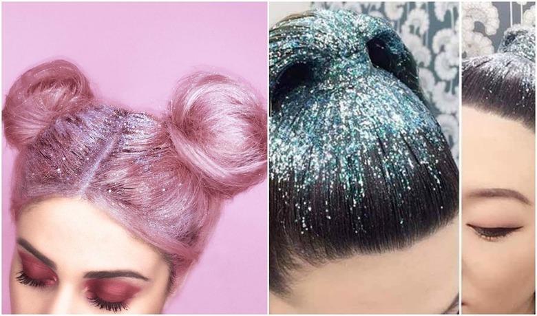 TREND: brokat na włosach i przedziałku