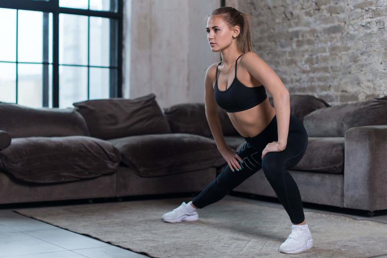 ćwiczenia na uda i łydki w domu