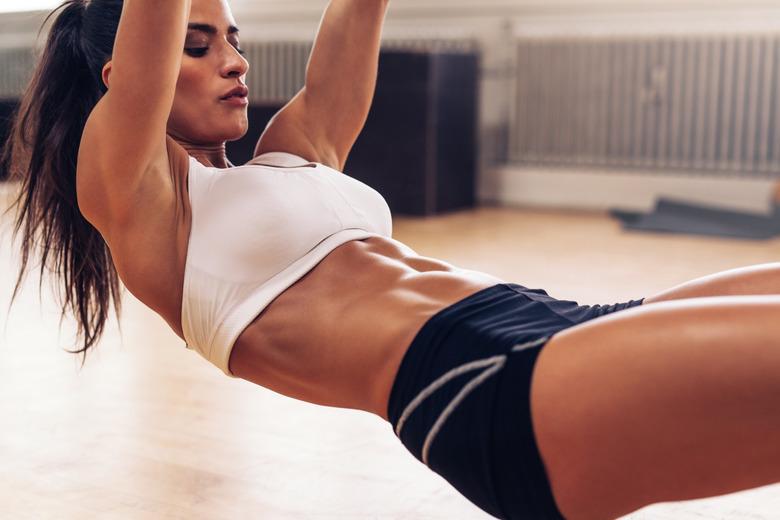 kobieta podczas ćwiczeń