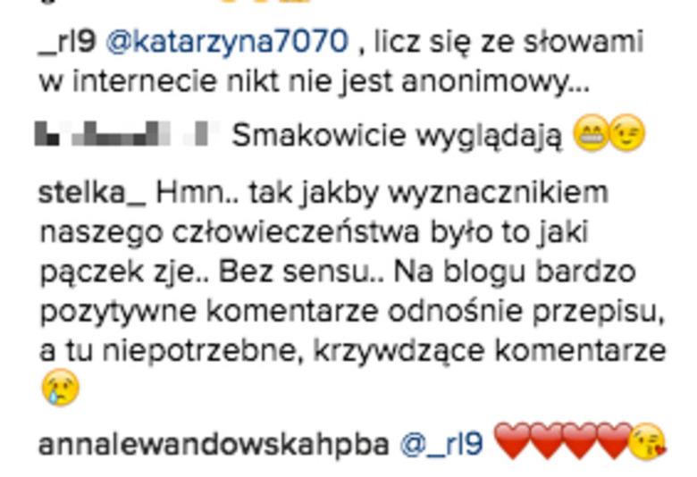 Robert Lewandowski skomentował wpis Ani