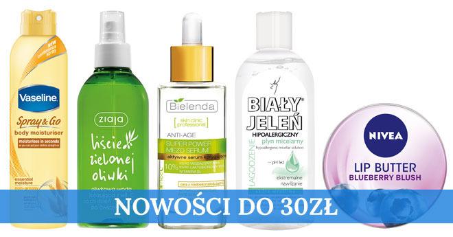 kosmetyki na jesień do 30zł