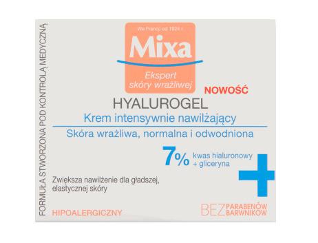 Wypróbuj nawilżający do 24 h Mixa HYALUROGEL – krem intensywnie nawilżający do skóry wrażliwej, normalnej i odwodnionej