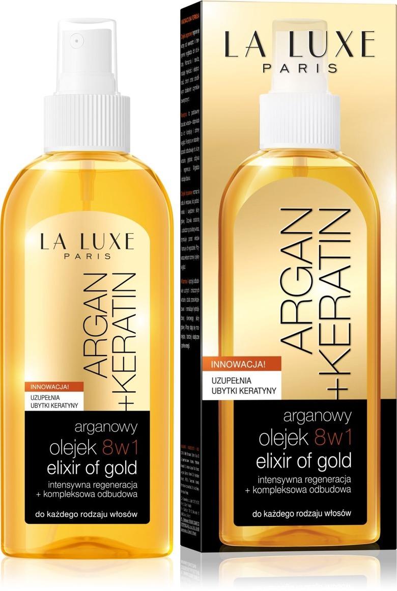 olejek do włosów la luxe argan+keratin