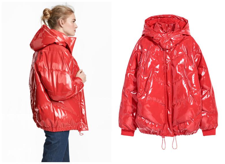 Znalezione obrazy dla zapytania czerwona kurtka hm anna lewandowsk