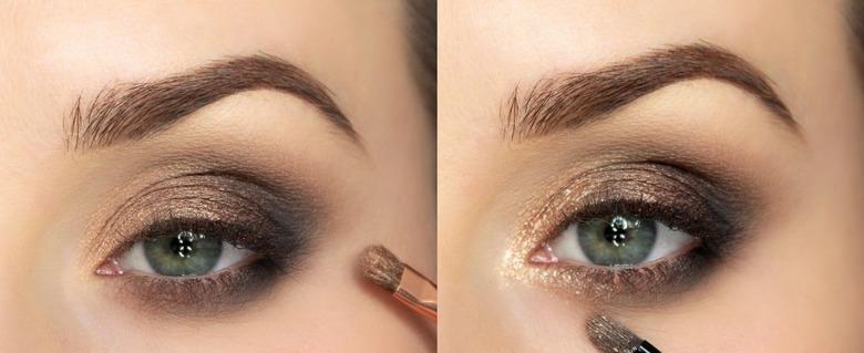 Brązowy smoky eyes Kim Kardashian