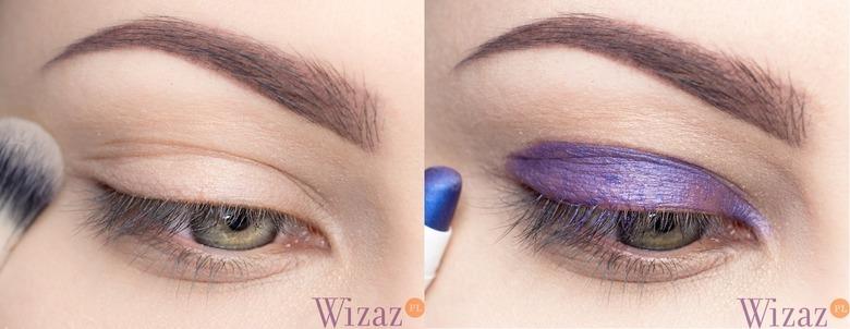 makijaż lawendowy