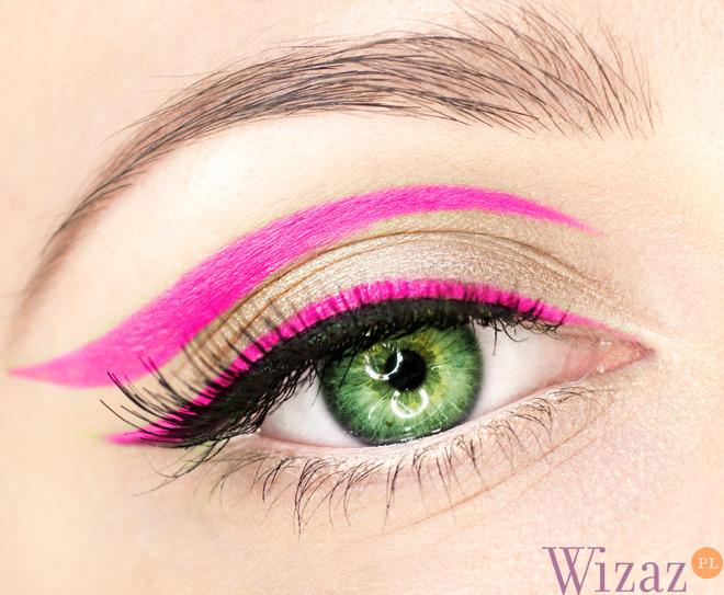 neonowy makijaż oczu