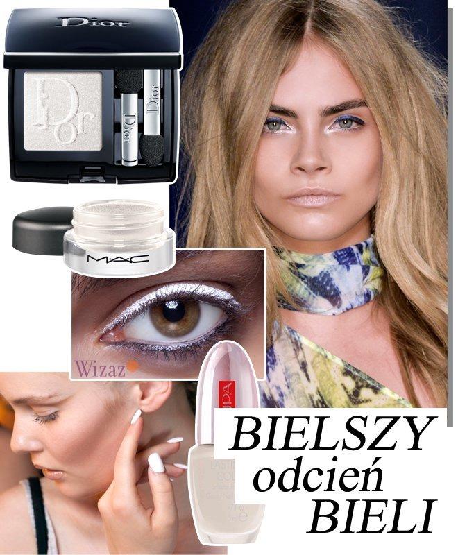 biały makijaż