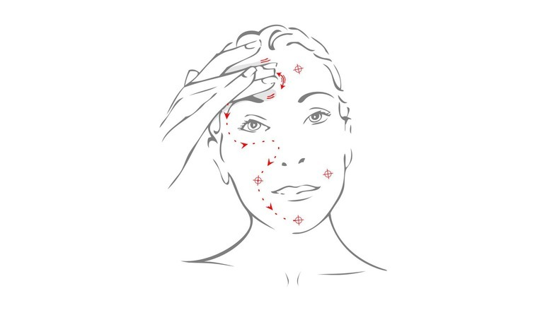 Masaż twarzy - krok 2
