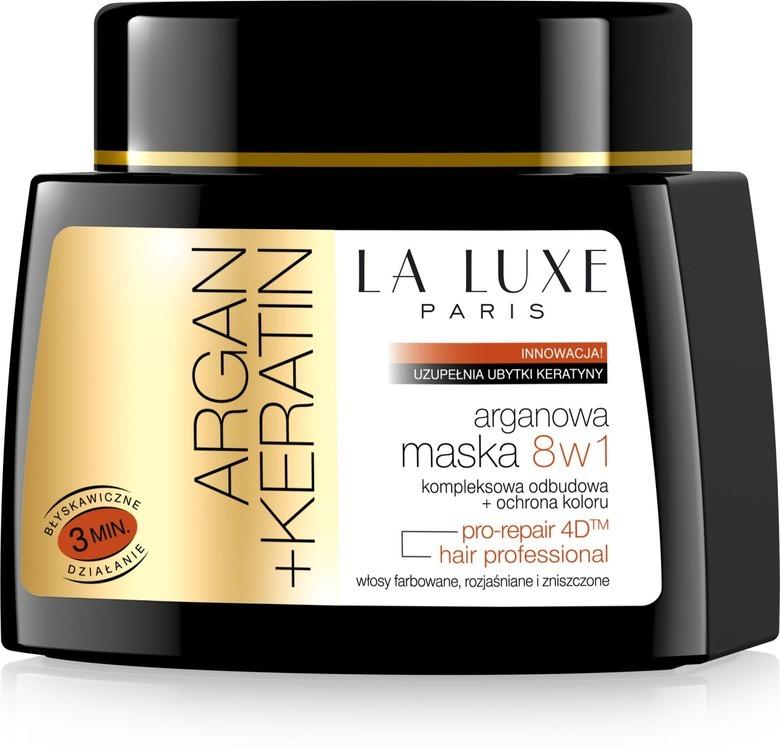 maska do włosów la luxe argan+keratin