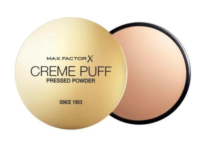 Wybierz mocno kryjący puder w kompakcie Max Factor Crème Puff, który utrwali Twój makijaż i nada mu matowe wykończenie