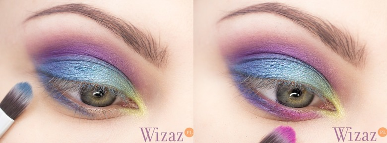 multikolorowy makijaż