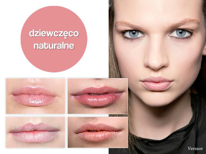makijaż ust jesień 2013