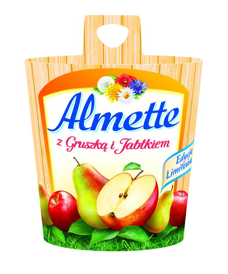 Almette z gruszką i jabłkiem