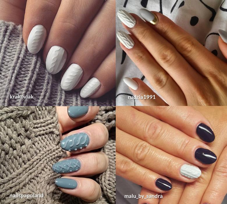 TREND: sweterkowy manicure