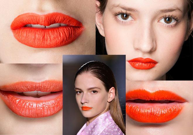 pomarańczowe usta na wiosnę 2014