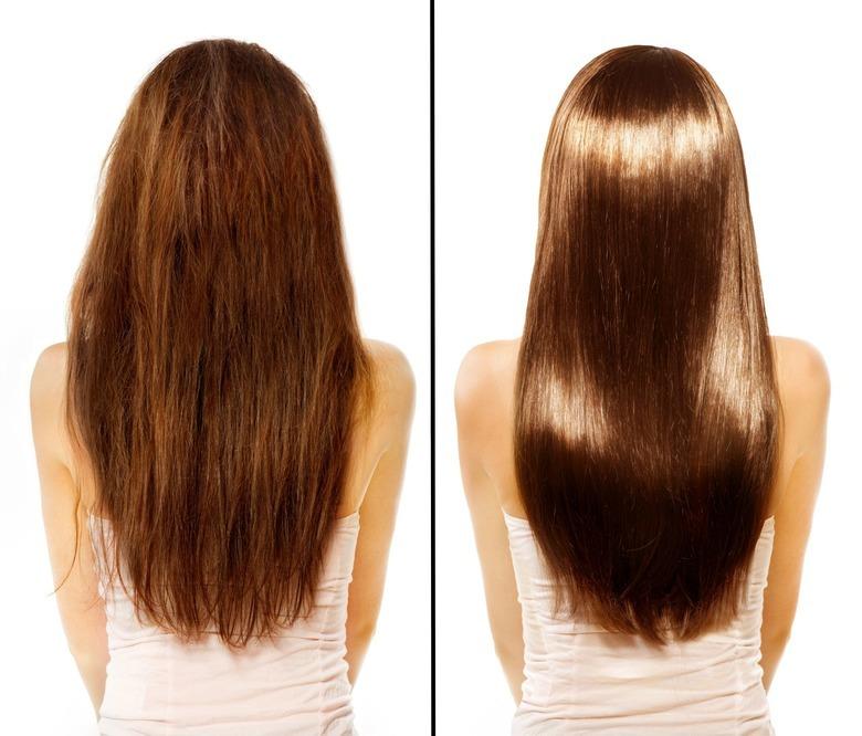 włosy przed i po uzyciu kosmetyków la luxe