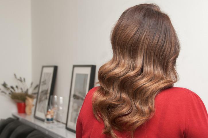 Refleksy na włosach