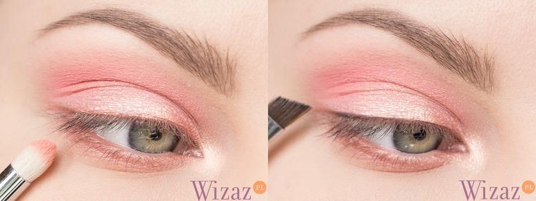 makijaż z pudrowym różem