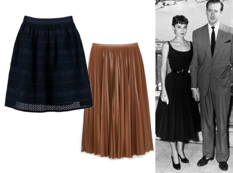 rozkloszowane spódnice w stylu retro