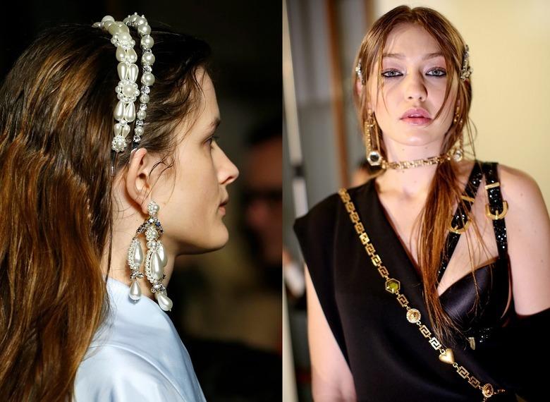 Trendy włosowe 2020: Perły i skóra