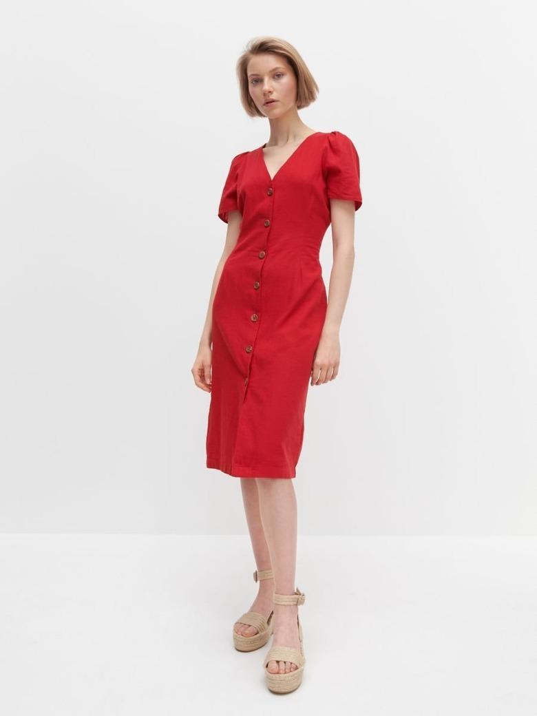 czerwona sukienka wyprzedaż reserved 2020