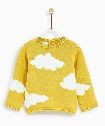 sweter w chmury zara