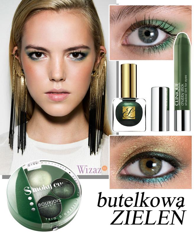 zielony makijaż oczu