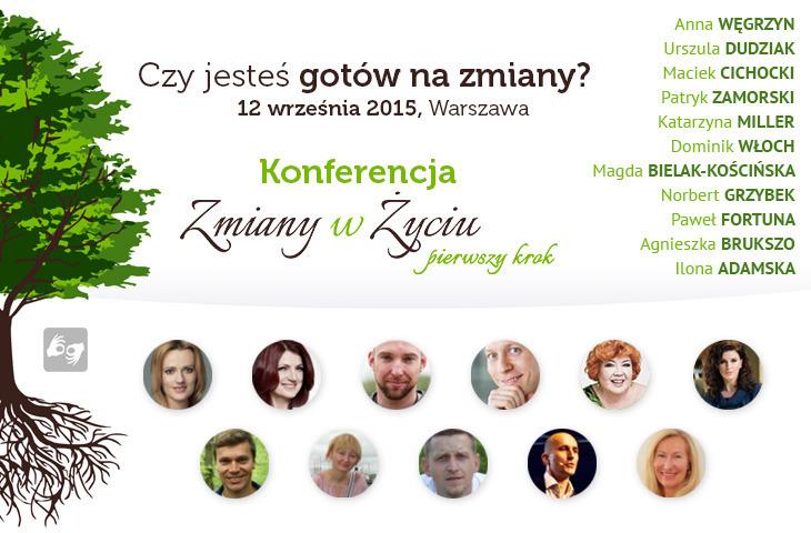 Konferencja zmiany w życiu