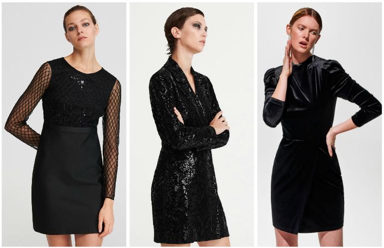 czarna sukienka na sylwestra reserved
