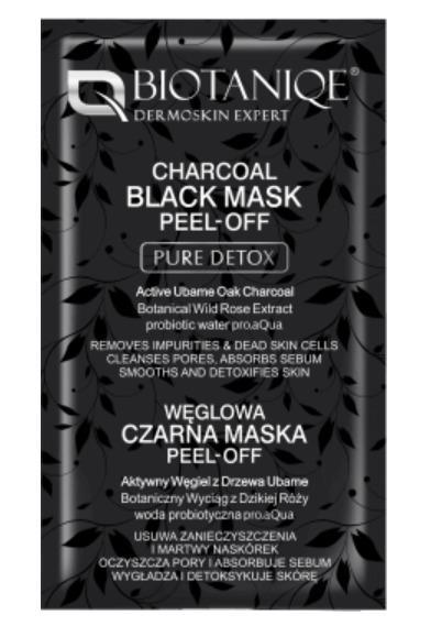 maska z węglem
