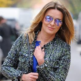 Hanna Lis w welurowych botkach marki Celebrity