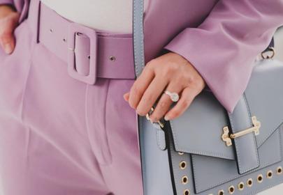 Joanna Koroniewska  w modnym garniturze z Zary