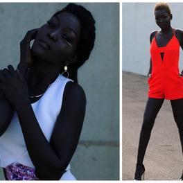 Czarnoskóra modelka Nyakim Gatwech Królowa Ciemności