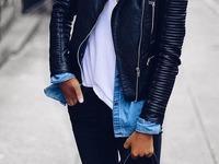 czarna kurtka ramoneska motocyklowa damska stylizacja